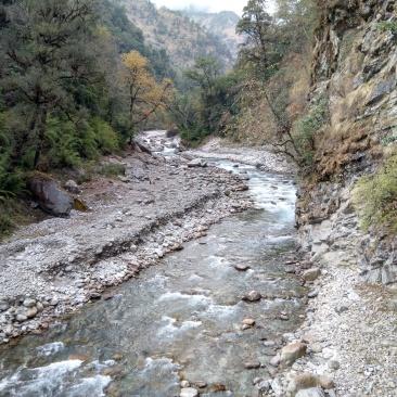 Sunderdhunga river
